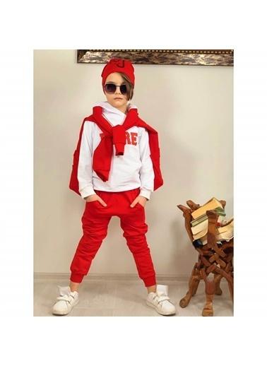 Quzucuk Kids Erkek Çocuk Ceketli Kırmızı Spor Takım Renkli